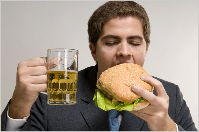hamburger-beer