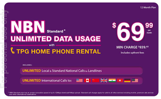 TPG's $69 99 unlimited plan shows the NBN future | Delimiter