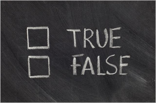 true or false checkboxes