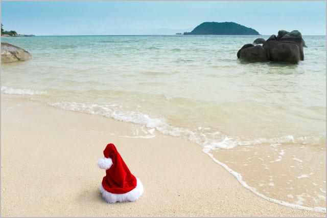 xmas beach - Merry Christmas Beach