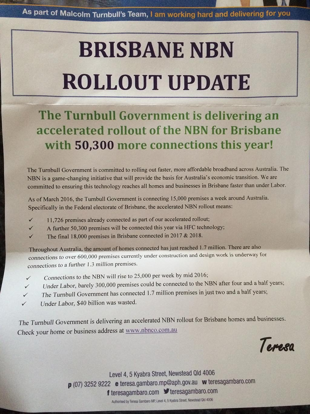 40bn Waste Coalition Kicks Off Nbn Smear Campaign Delimiter